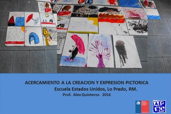 Taller acercamiento a la creación y expresión pictórica en la Escuela Estados Unidos