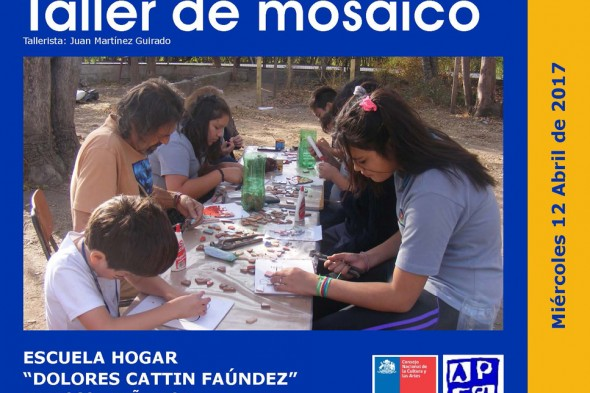 TALLER DE MOSAICO ESCUELA DOLORES CATTIN DE PEÑAFLOR