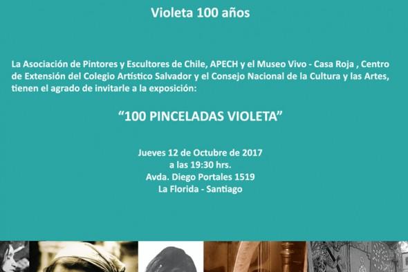 Homenaje a Violeta Liceo Artístico Salvador