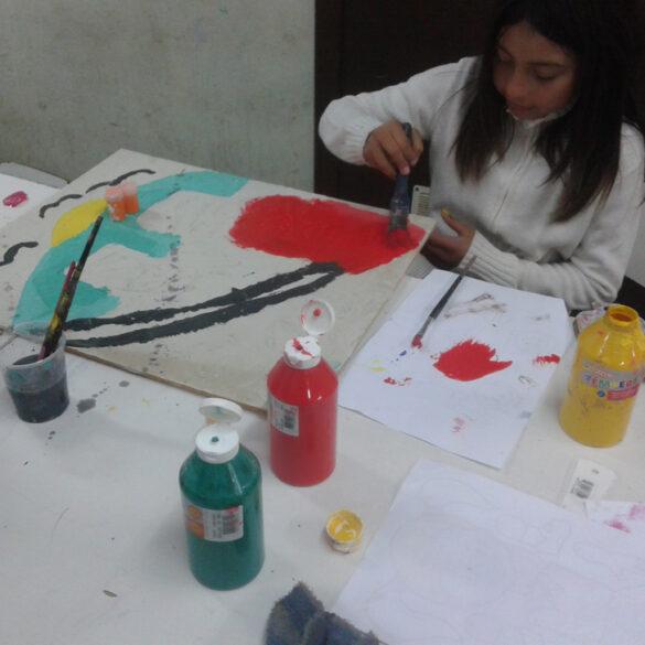 Taller de Arte y Reciclaje Escuela Espontánea y Ecologista de Artes Integradas Violeta Parra