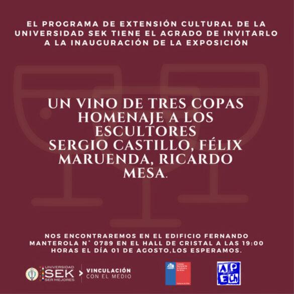 HOMENAJE ESCULTORES FELIX MARUENDA – SERGIO CASTILLO – RICARDO MESA