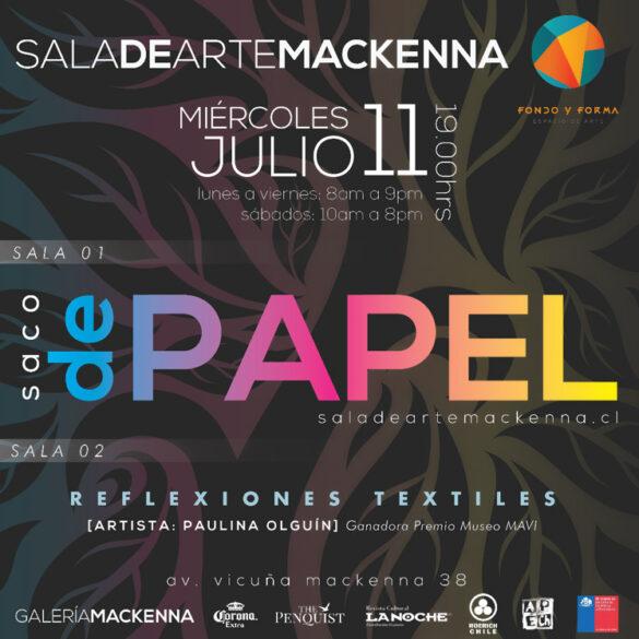 EXPOSICION SACO DE PAPEL GALERIA MACKENNA