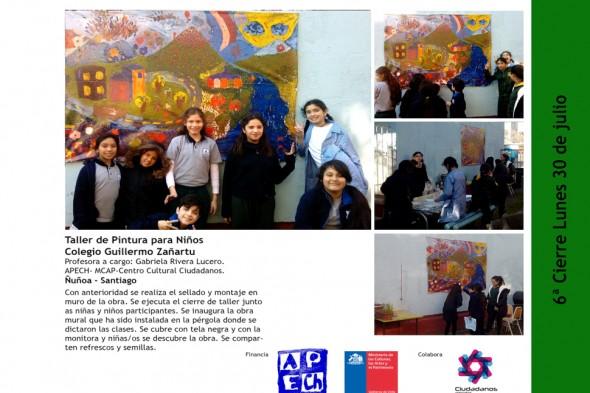 TALLER DE PINTURA PARA NIÑOS COLEGIO ZAÑARTU ÑUÑOA
