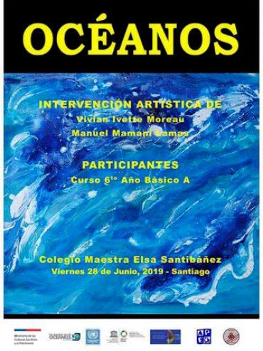 Charla e intervención artística colegio Maestra Elsa Santibañez de La Florida